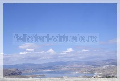 Greeting card with wonderful landscapes